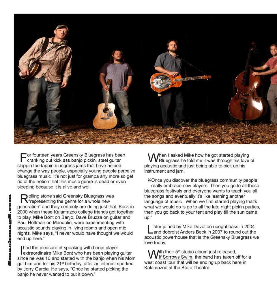 F  SmashmagS.com  or fourteen years Greensky Bluegrass has been cranking out kick ass banjo pickin, steel guitar slappin t...