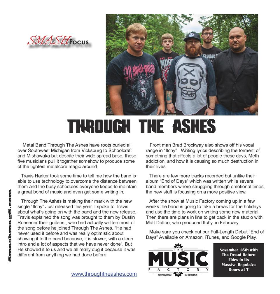SMASHFocus  Through The Ashes SmashmagS.com  Metal Band Through The Ashes have roots buried all over Southwest Michigan fr...