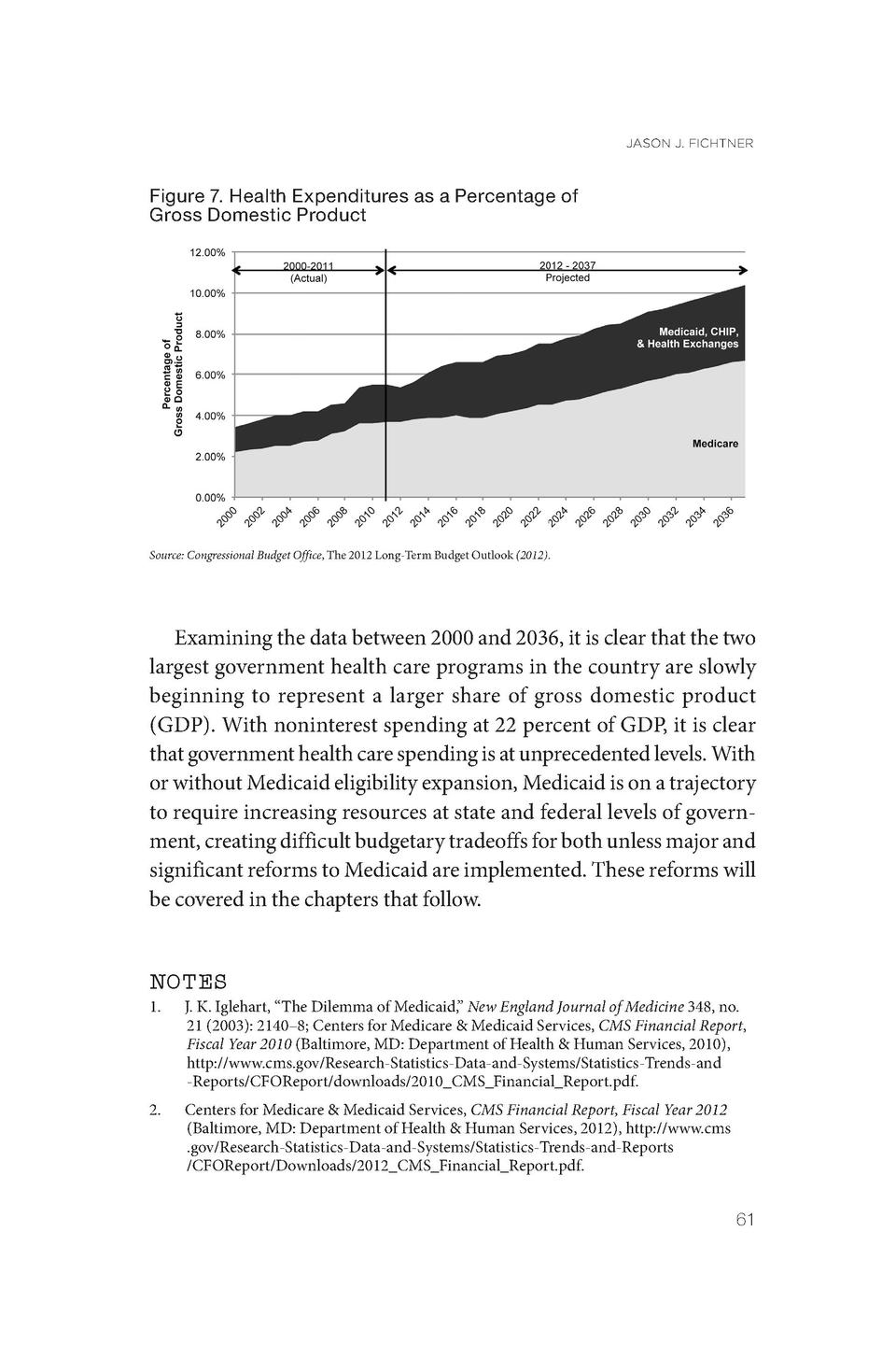 JASON J. FICHTNER  Figure 7. Health Expenditures as a Percentage of Gross Domestic Product  Source  Congressional Budget O...