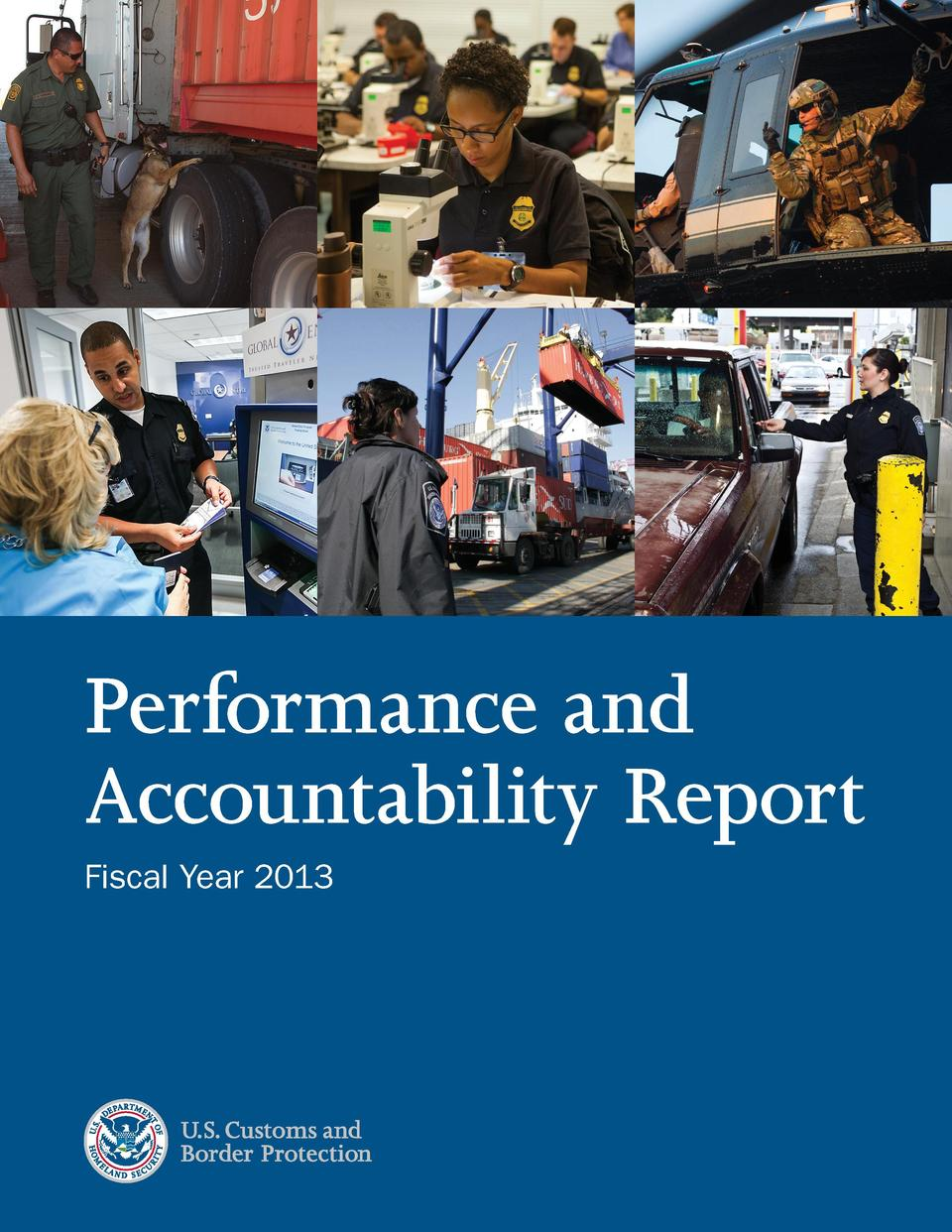 Performance and Accountability Report Fiscal Year 2013