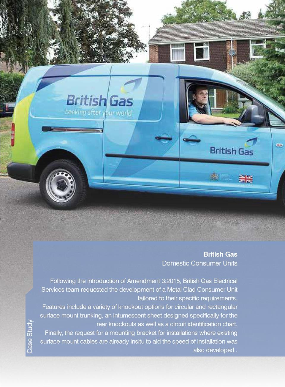 Case Study  British Gas Domestic Consumer Units Following the introduction of Amendment 3 2015, British Gas Electrical Ser...