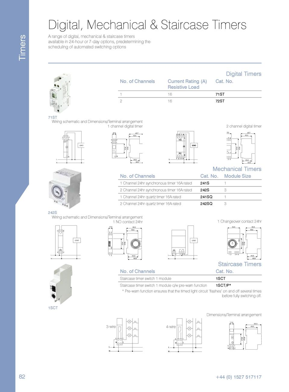 Proteus Consumer Catalogue Rcbo Wiring Diagram Timers Digital Mechanical Staircase A Range Of Available In