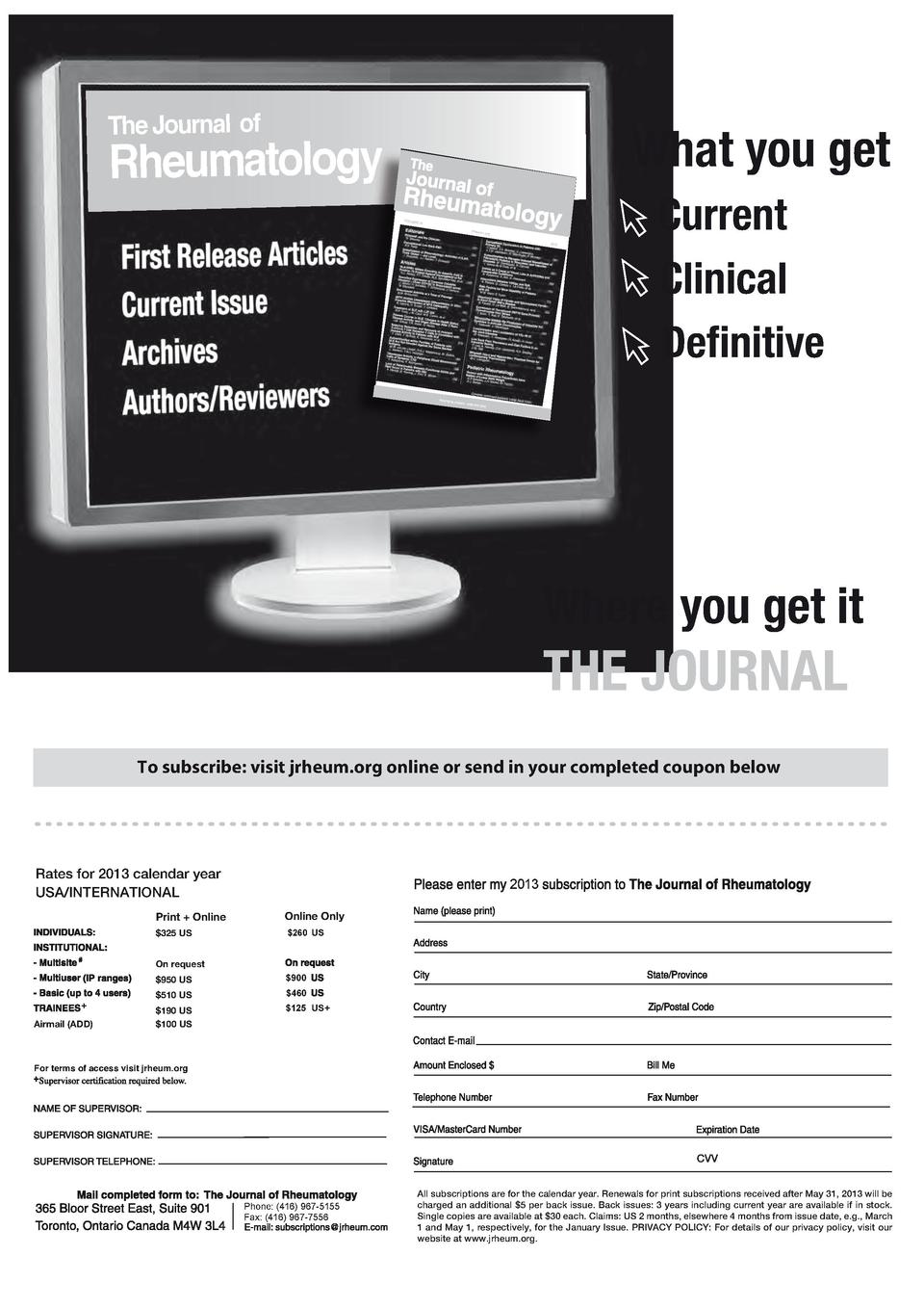 Overviewrs koda auto - 60 The Journal Of What You Get Rheumatology Volum E 38 Jrheum Org 2011 Printed