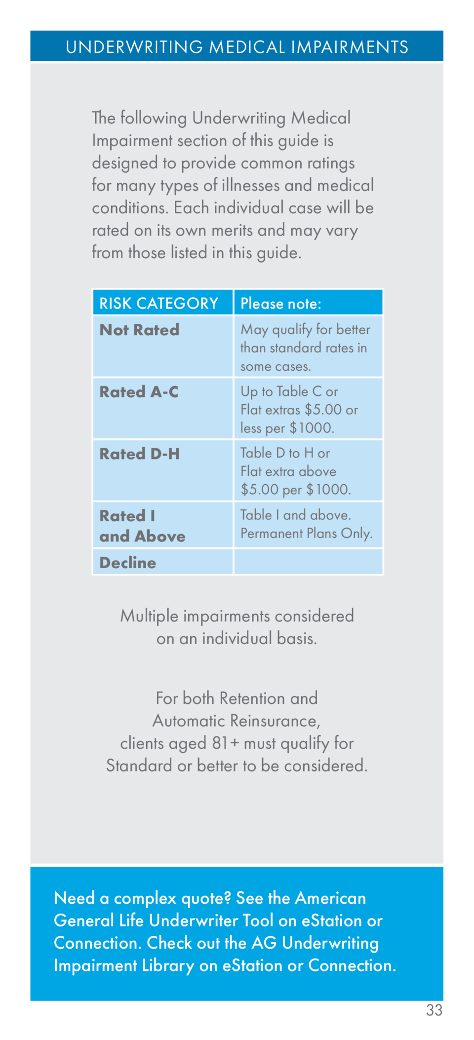 Aig field underwriting guide simplebooklet 1betcityfo Image collections