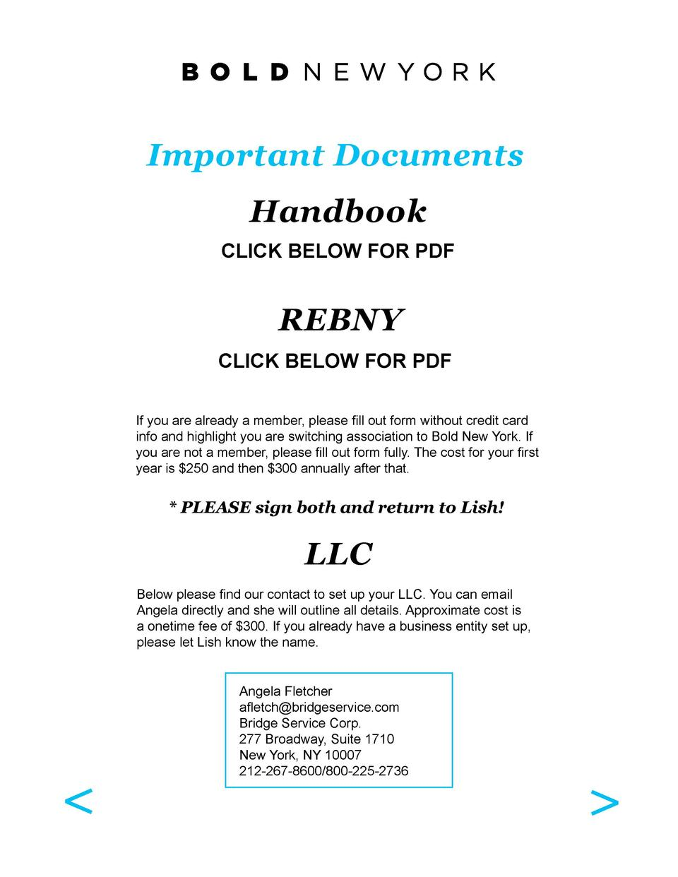 Important Documents Handbook CLICK BELOW FOR PDF  REBNY CLICK BELOW FOR PDF If you are already a member, please fill out f...