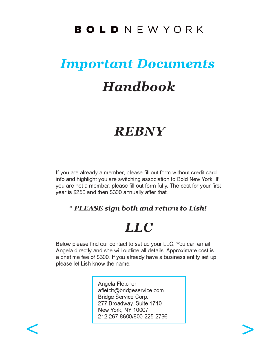Important Documents Handbook REBNY If you are already a member, please fill out form without credit card info and highligh...