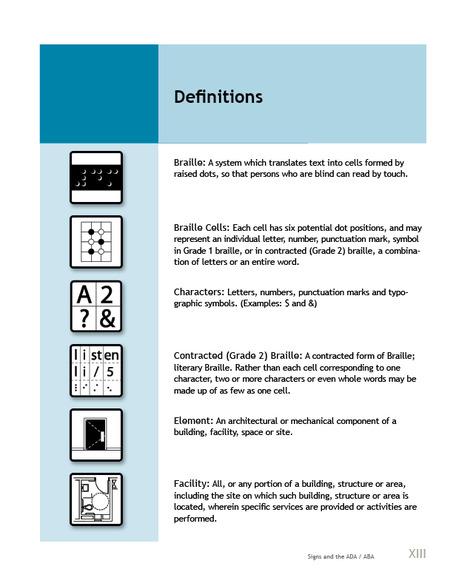 Signs and the ADA/ABA 2014 Editi : simplebooklet.com