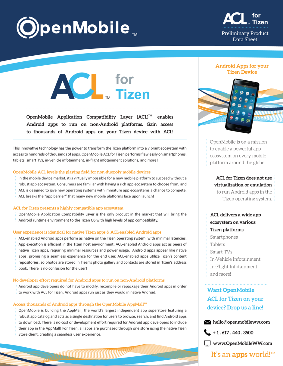 OpenMobile ACL for Tizen : simplebooklet com