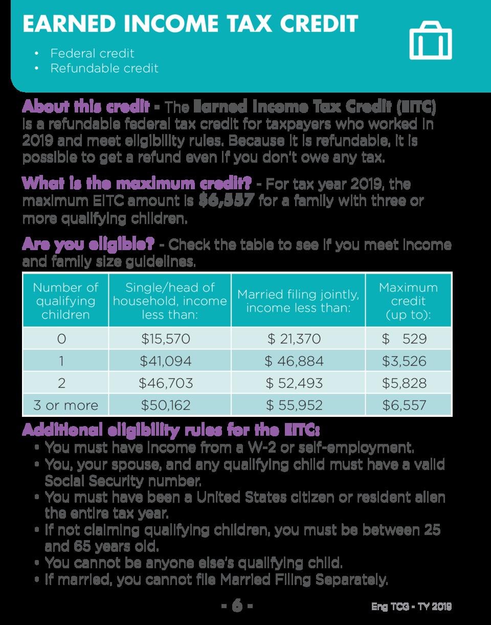 Tax Credit Guide Prepare Prosper