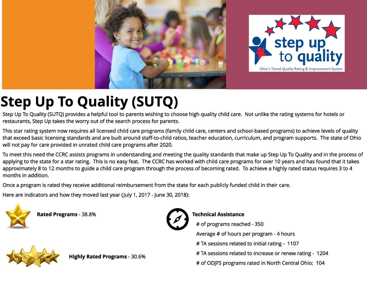 St ep Up To Qu alit y  SUTQ  Step Up To Quality  SUTQ  provides a helpful tool to parents wishing to choose high quality c...
